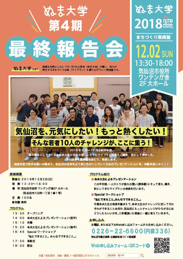 ぬま大学第4期最終報告会